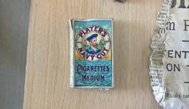 Navy cigarettes found at Bridgford Hall